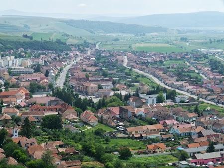 Fortificatii sasesti in Transilvania: Rupea vedere panoramica