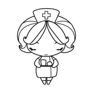 Colorear Dibujos De Enfermeras