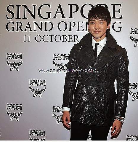 MCM RAIN SINGAPORE Fashion Week 2013 Fide Store opening Marina Bay Sands Sung Hoon Shin woo Spring Summer 2014 Fashion Show Flower Boys In Paradise MCM Bags backpack handbag totebag clutch wallets ipad accessories shoes jacket blazer