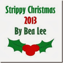 strippy christmas label