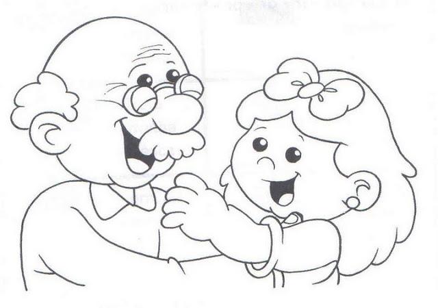 Dibujos De Colorear Abuelos