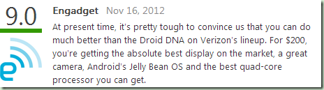 HTC Droid DNA Reviews