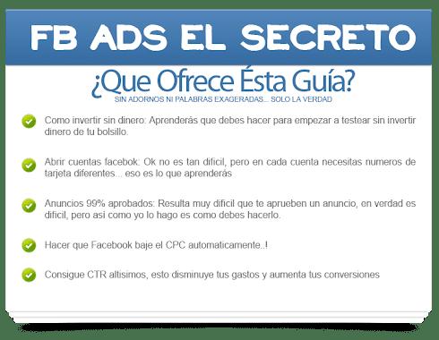 FACEBOOK ADS, EL SECRETO