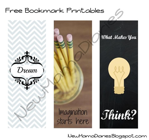 Back To School Bookmark Printables | NewMamaDiaries.blogspot.com
