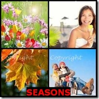 SEASONS- 4 Pics 1 Word Answers 3 Letters