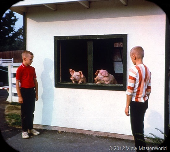 View-Master Dutch Wonderland (A634), Scene 16: The House of the Three Little Pigs
