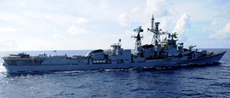 Indian Navy Wallpaper - Rajput-class Destroyer INS Ranvijay [D55]