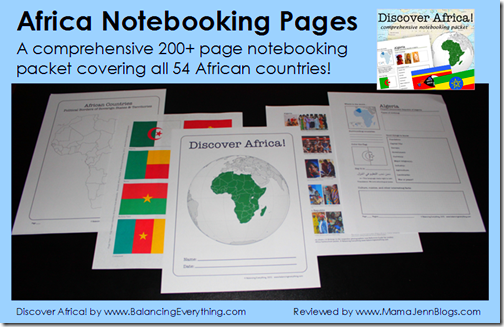 Discover Africa! (Africa Notebooking Pages)
