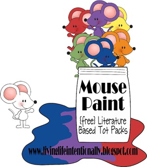 FREE Mouse Paint worksheets for toddler, preschool, prek, kindergarten. These free printable worksheets for kids are great for learning about colors, shapes, letter m, counting, and more. (five in a row, best preschool books)