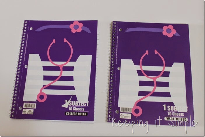 Disney themed notebooks (8)