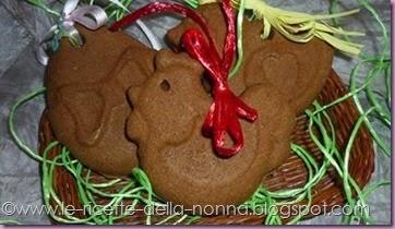 Biscotti pasquali di frolla e cacao