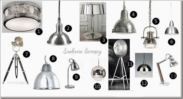 srebrne lampy
