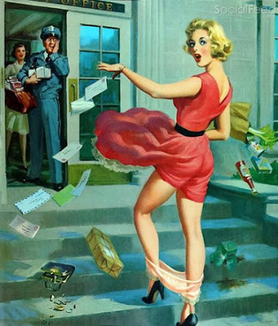 Pinups in peril Three new scans added to our Art Frahm gallery