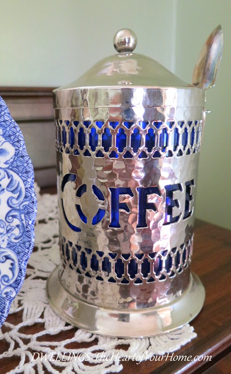 Vintage Silver Coffee Canister