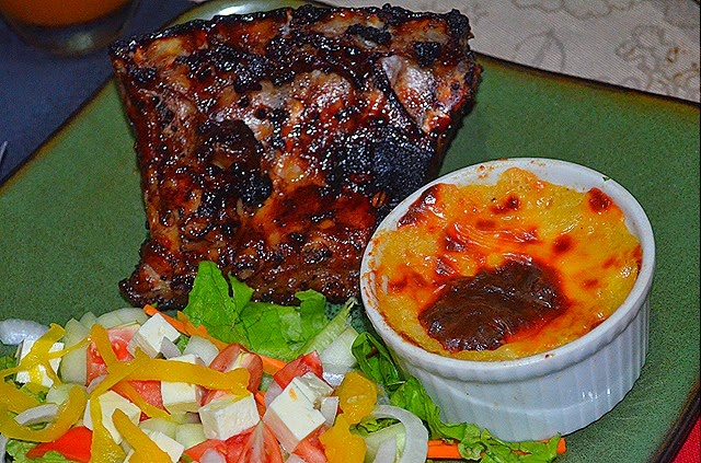 Shepherd's Pie with Baby Back Ribs and Garden Salad