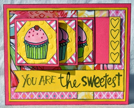 Cupcake Waterfall Card 1