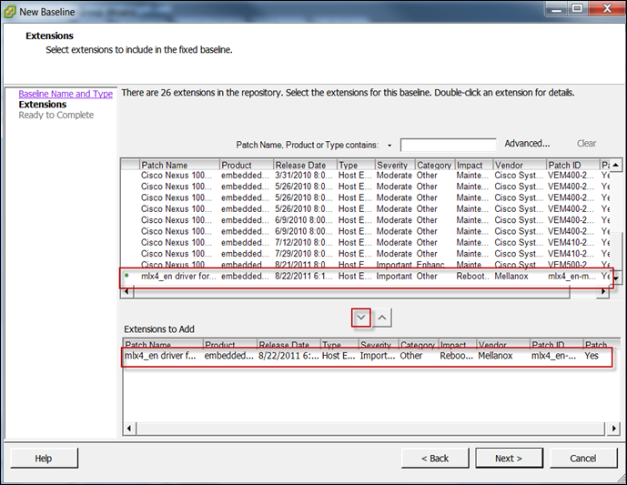 How to Add a 3rd Party driver to a baseline in Update Manager