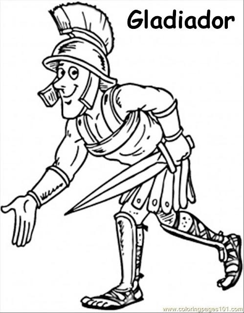 dibujos de gladiadores para colorear
