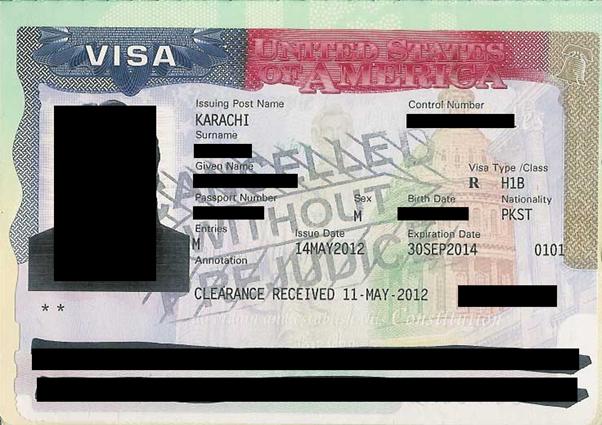 H-1B Work Visa USA: Verify H-1B Visa Stamp–Annotation