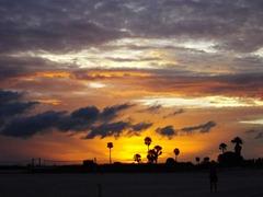 Sunset-at-Treasure-Island,-Tampa,-FL