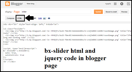 add-bxslider-in-blogger-page