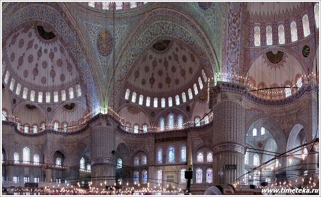 Своды Голубой мечети. Стамбул.