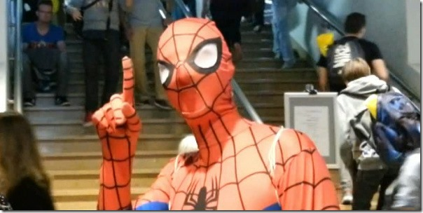Spidey op Antwerp Convention