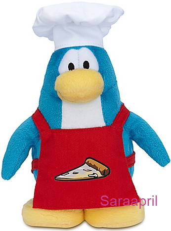Pizza Chef Penguin Plush Toy :)