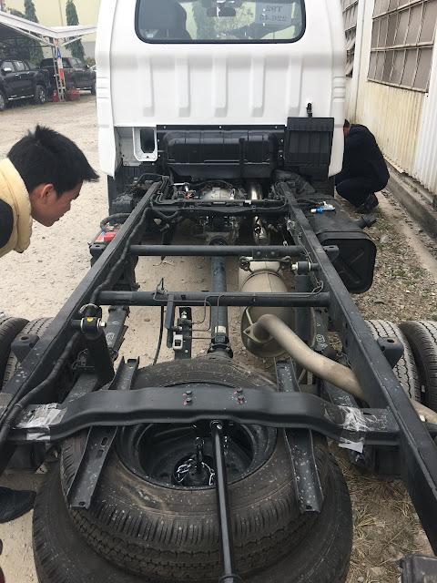 Chassi xe tải Thaco Kia K200 cứng cáp và có độ đàn hồi cao
