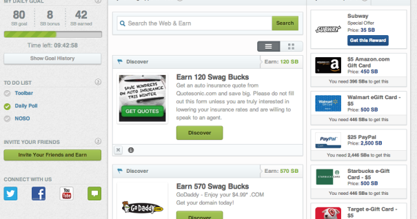Swagbucks only working hack: Swagbuck working hack (proof)