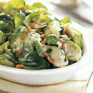 Brussels Sprouts with Marjoram and Pine Nuts.