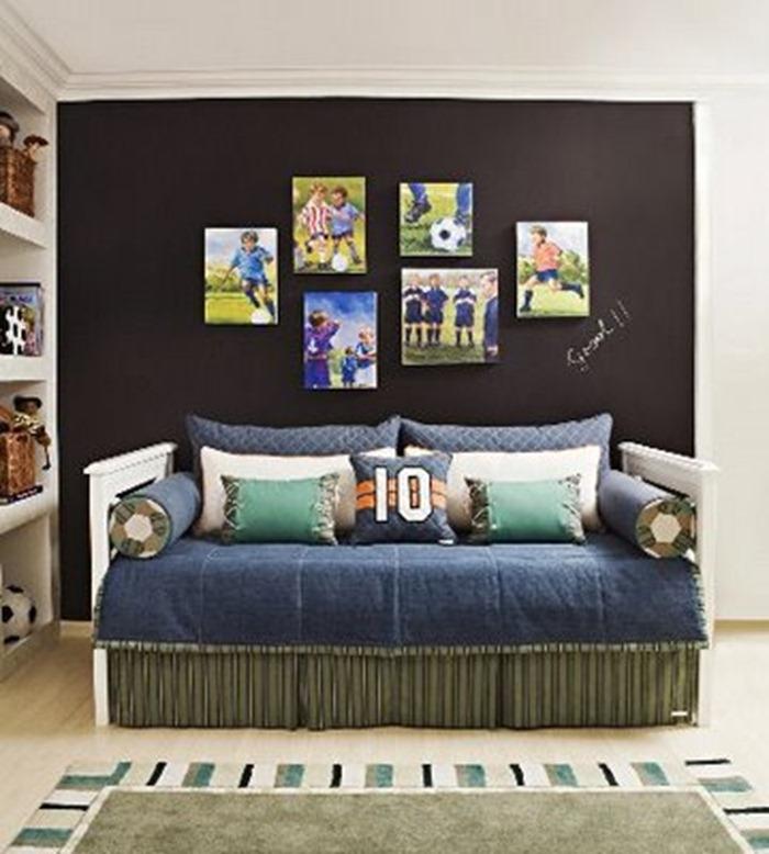 quarto com decorao em preto
