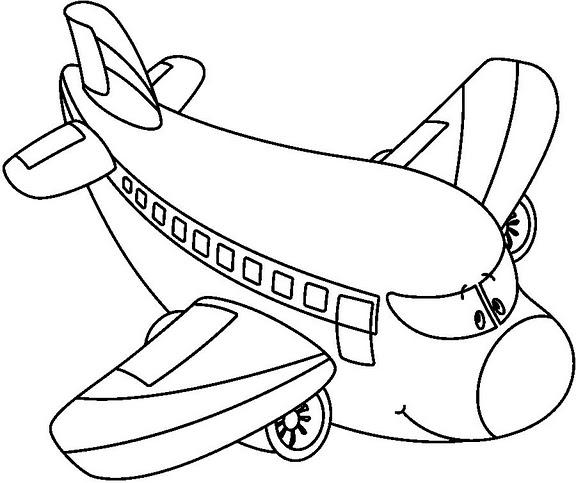 desenho aviao para colorir colorir e aprender