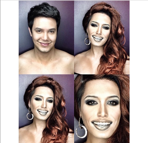 PHOTOS: Dad Transforms Himself Into Celebrities Using Makeup And Wigs 16