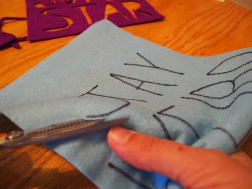 Cuttingoutphrase #Crafts #banners #felt
