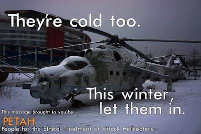 Helicopter Lives Matter PETAH People for Ethical Treatment of Attack Helicopters Show