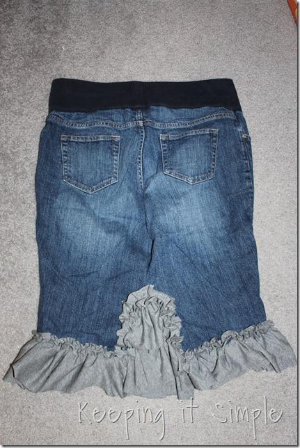 jean skirt refashion (2)