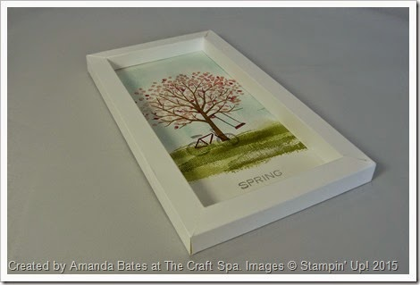 Shadow Box Frame, Sheltering Trees for All Seasons SPRING by Amanda Bates at The Craft Spa   (3)