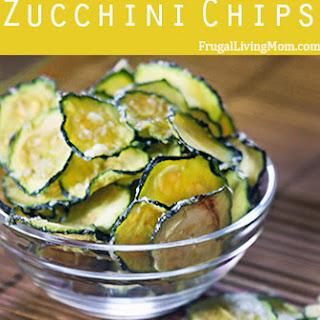 Parmesan Garlic Zucchini Chips