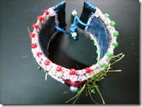 Recycle denim bracelet 06