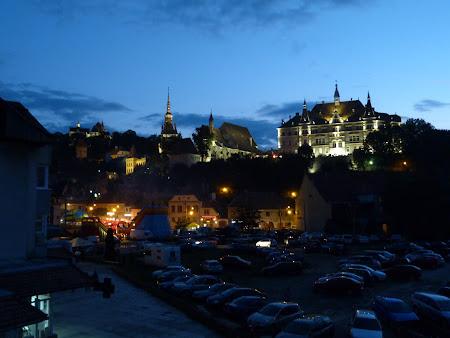 Obiective turistice Romania: cetatea noaptea