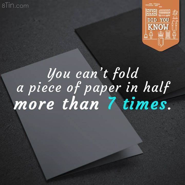 In fact, if a piece of paper can be fold 50 times, how much thick can it be?