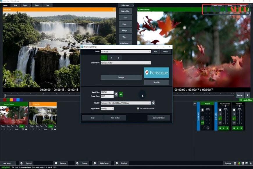 Phần mềm vMix trên máy tính