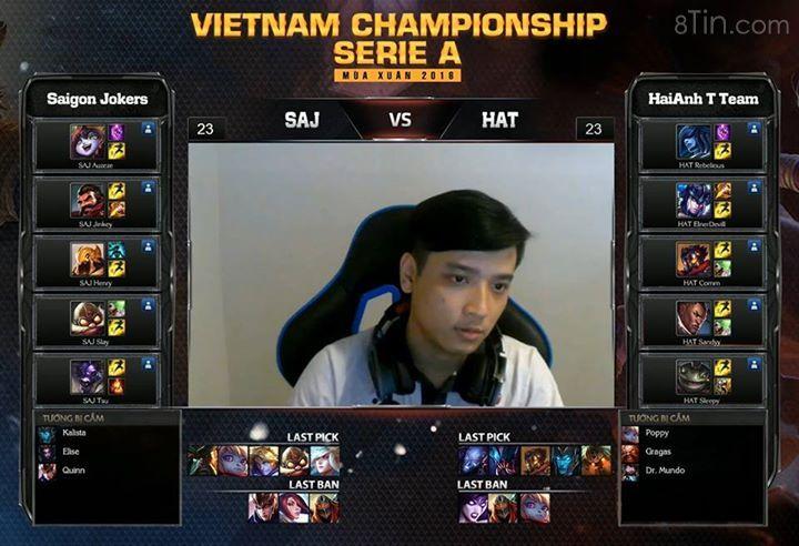 Vòng 7 VCSA mùa xuân 2016: SAJ vs HAT