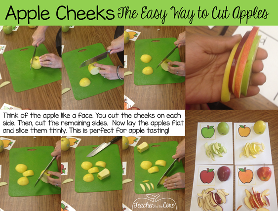 How to cut an apple the safe and easy way- Teacher to the Core
