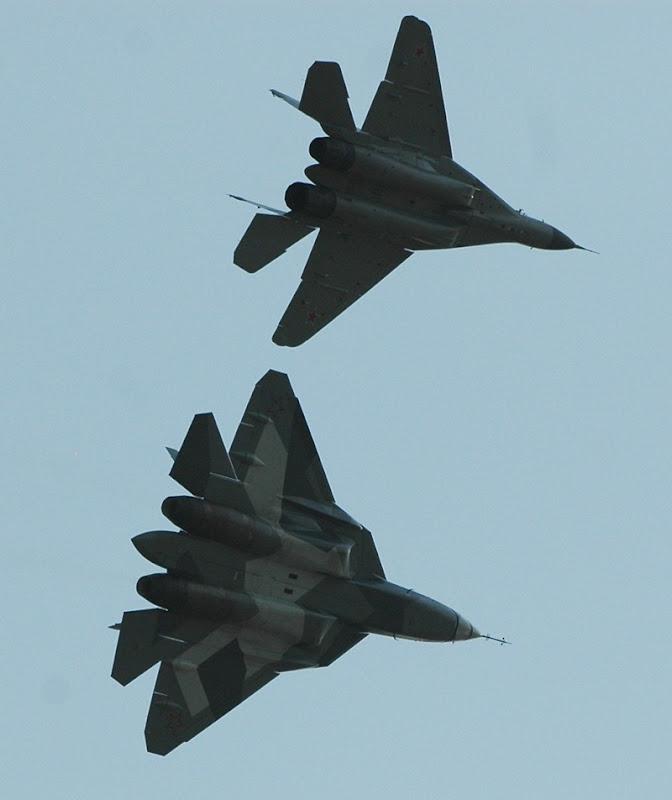 Russian T-50 PAK-FA Fifth Generation Fighter Flies
