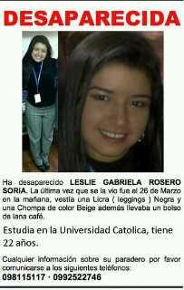 Lesli Rosero fue hallada muerta