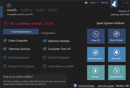 Free Synei System Optimization Utility for Windows 8