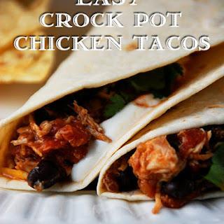 Easy Crock Pot Chicken Tacos.