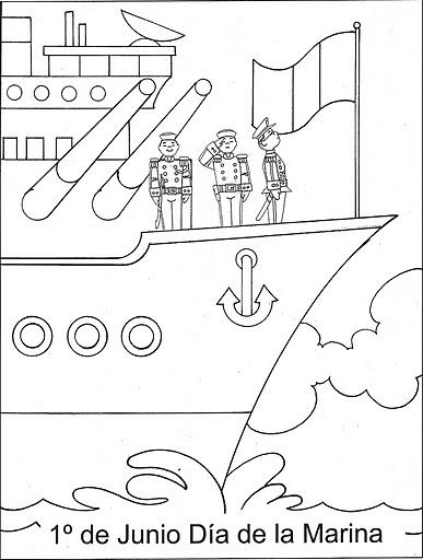Día De La Marina Para Colorear Actividades Para Niños